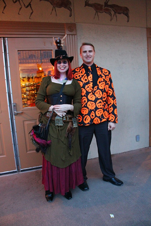 man and woman dressed up for halloween