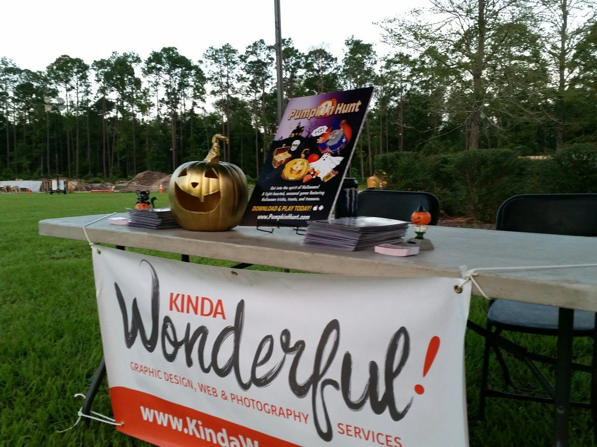 Our Promotional Booth at the 5K