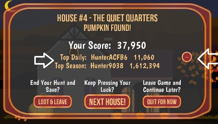 PumpkinHunt Game 1.12 released, more points, more fun, less ads and better Halloween!